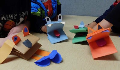 Folded Paper Puppets