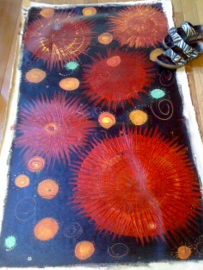 Art Snap. Painted canvas floorcloth