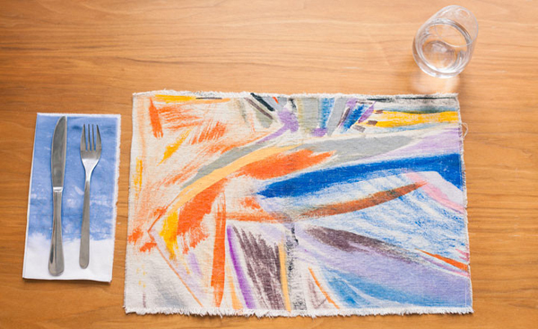Art Snap. Painted canvas placemats 1