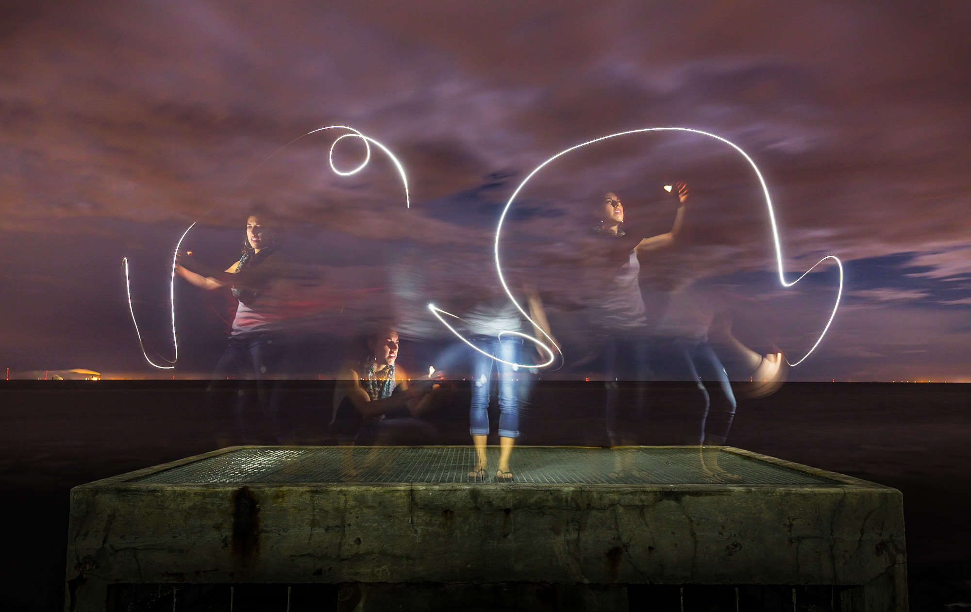 Lisa Ferrante. Light Painting Photo