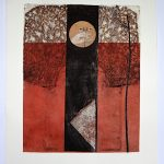 Suzanne Benton. The Seeing Eyes. Monoprint with chine colle.