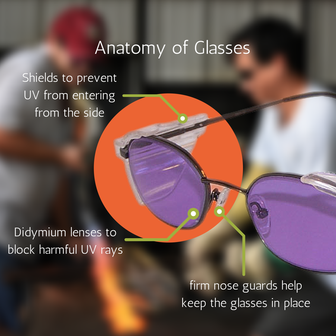 Morean Arts Center | Why Do Our Glass Artists Wear Purple Glasses?