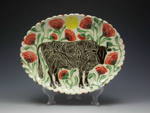 Sue Tirrell-Tooled Bull Platter