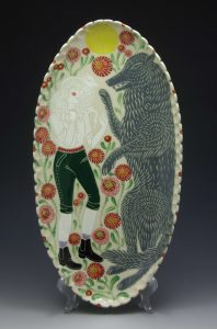 Sue Tirrell-Wolf and Shepherd Platter_2015