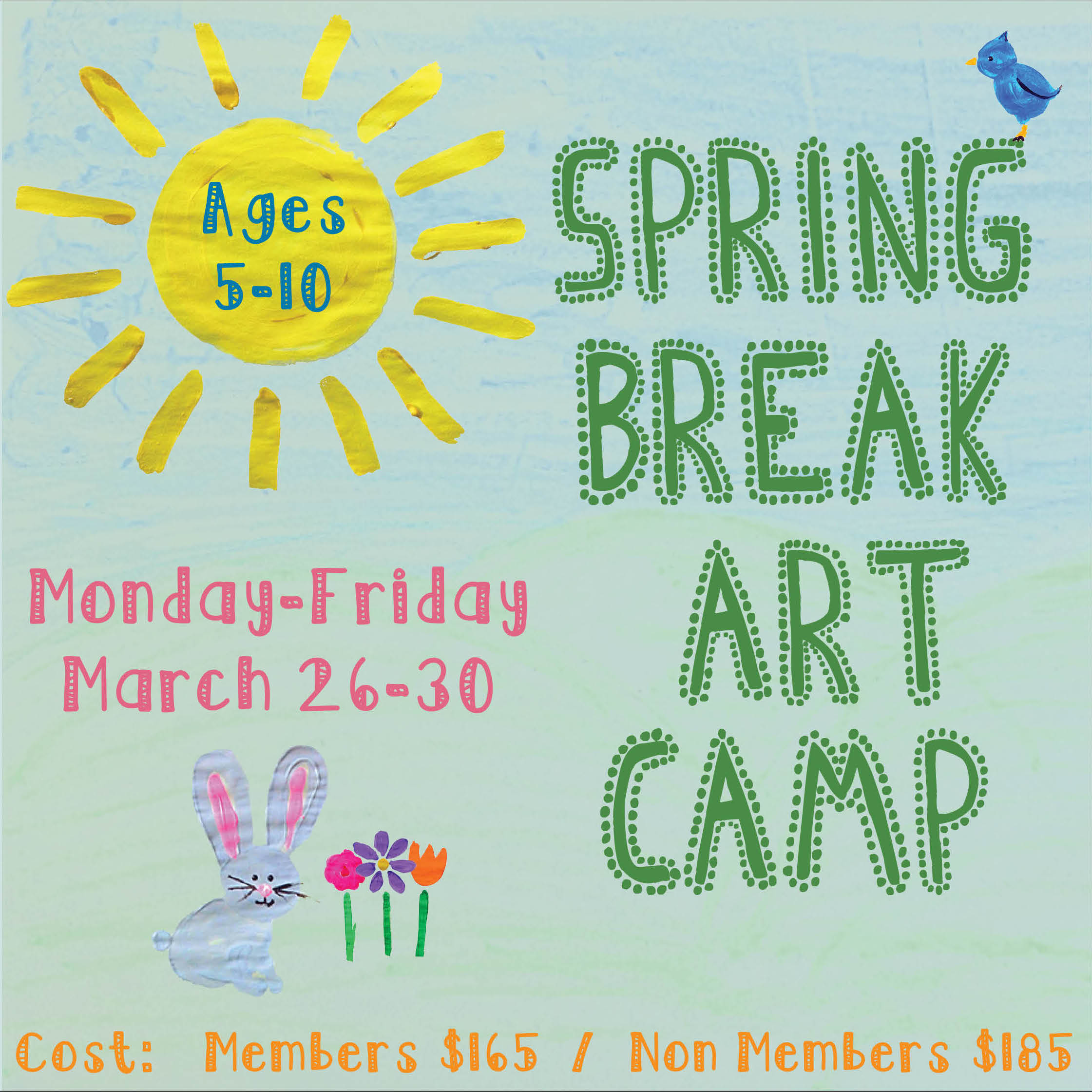 Morean arts center spring break art camp join us for a week long spring break art camp children ages 5 10 will be creating a mixed media art garden filled with flowers unicorns mightylinksfo